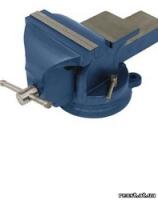 Тиски слесарные поворотные синие Miol 125мм